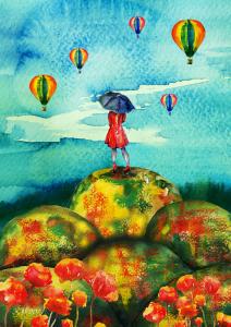 Paraplykvinnan